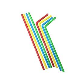 PAJITAS FLEXIBLES COLORES 23 cm x 6 mm